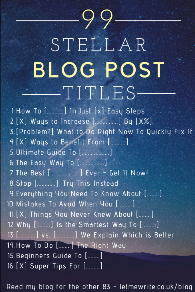 blog post titles