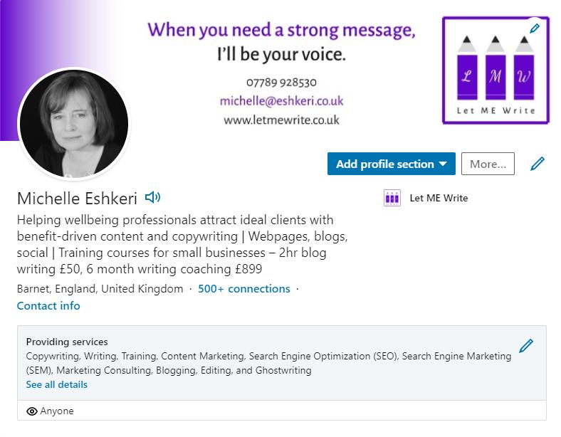 Michelle Eshkeri LinkedIn profile