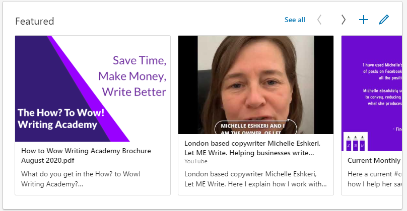 LetMeWrite London copywriter Linkedin profile
